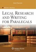 Legal Research and Writing for Paralegals 5th Edition 9780735568013 0735568014