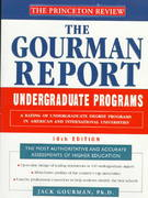 Princeton Review: Gourman Report of Undergraduate Programs, 10th Edition 10th edition 9780679777809 0679777806