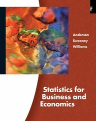 Statistics for Business and Economics (Book Only) 11th edition 9780324783254 0324783256