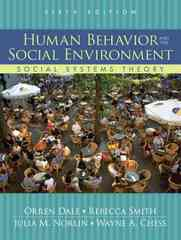 Human Behavior and the Social Environment 6th edition 9780205613694 0205613691