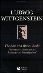 The Blue and Brown Books 1st edition 9780631146605 0631146601