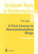 A First Course in Noncommutative Rings 2nd edition 9780387951836 0387951830