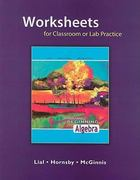 Worksheets for Classroom or Lab Practice for Beginning Algebra 10th edition 9780321494092 0321494091