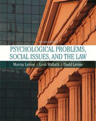 Psychological Problems, Social Issues, and the Law 2nd edition 9780205474547 0205474543