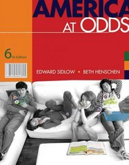 America at Odds 6th edition 9780495501084 0495501085