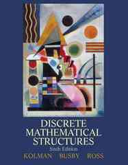 Discrete Mathematical Structures 6th edition 9780132297516 0132297515