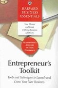 Entrepreneur's Toolkit 1st Edition 9781591394365 1591394368