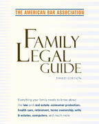 American Bar Association Family Legal Guide (third edition) 3rd edition 9780375720772 0375720774