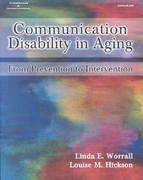 Communication Disability in Aging 1st edition 9780769300153 0769300154