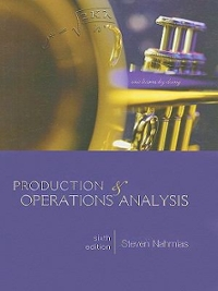 Production and Operations Analysis 6th Edition 9780073377858 0073377856