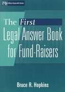 The First Legal Answer Book for Fund-Raisers 1st edition 9780471356196 0471356190
