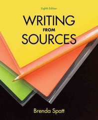 Writing from Sources 8th Edition 9781457603464 1457603462