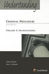 Understanding Criminal Procedure 5th edition 9781422426784 1422426785