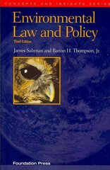Environmental Law and Policy 3rd edition 9781599417714 1599417715