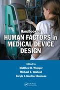 Handbook of Human Factors in Medical Device Design 1st edition 9780805856279 0805856277