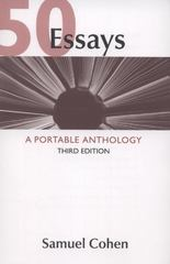 50 Essays A Portable Anthology 3rd edition | Rent 9780312609658 ...
