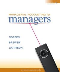 Managerial Accounting for Managers with Connect Plus 2nd edition 9780077403485 0077403487