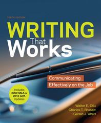 Writing that Works with 2009 MLA and 2010 APA Updates 10th edition 9780312692179 031269217X