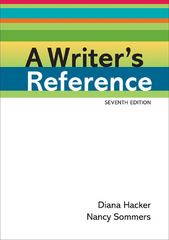 A Writer's Reference 7th Edition 9780312601430 0312601433