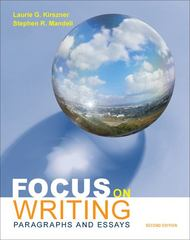 Focus on Writing 2nd edition 9780312603410 031260341X