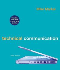 Technical Communication with 2009 MLA and 2010 APA Updates 9th edition 9780312692162 0312692161