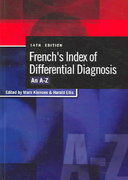 French's Index of Differential Diagnosis 14th edition 9780340810477 0340810475