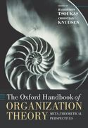 The Oxford Handbook of Organization Theory 0 9780199275250 0199275254