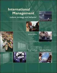 International Management: Culture, Strategy, and Behavior 7th edition 9780073381190 0073381195