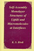 Self-Assembly Monolayer Structures of Lipids and Macromolecules at Interfaces 1st edition 9780306460999 0306460998