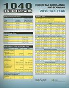 1040 Express Answers 2011th edition 9780808024293 0808024299