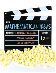 Mathematical Ideas 12th edition 9780321830944 0321830946