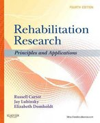 Rehabilitation Research 4th edition 9781437708400 1437708404