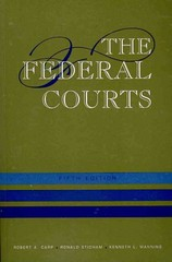 The Federal Courts 5th Edition 9781608714117 160871411X