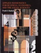 Applied Mathematics for Business, Economics and the Social Sciences 4th edition 9780071125802 0071125809