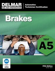 ASE Test Preparation - A5 Brakes 5th Edition 9781111127077 1111127077
