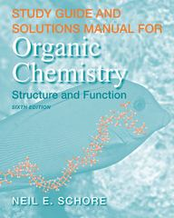 Study Guide/Solutions Manual for Organic Chemistry 6th edition 9781429231367 142923136X