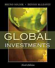 Global Investments 6th edition 9780321527707 0321527704