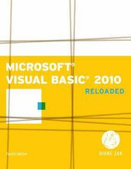 Microsoft Visual Basic 2010 4th edition 9781111221799 1111221790