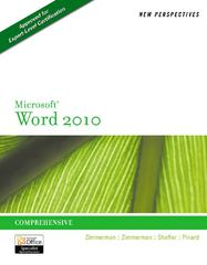 New Perspectives on Microsoft Word 2010 1st edition 9780538748926 0538748923