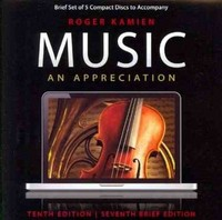 5-CD set for Music: An Appreciation, Brief Edition 7th edition 9780077377724 0077377729