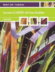 Instruction of Students with Severe Disabilities 7th Edition 9780137075461 0137075464