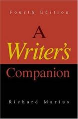 A Writer's Companion 4th Edition 9780073040158 0073040150
