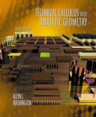 Technical Calculus with Analytic Geometry 4th edition 9780201711127 0201711125