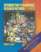 Introduction to Behavioral Research Methods (with Research Navigator) 4th Edition 9780205396764 0205396763