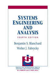 Systems Engineering and Analysis 4th edition 9780131869776 0131869779