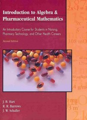 Introduction to Algebra and Pharmaceutical Mathematics 2nd edition 9780787269739 0787269735