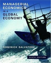 Managerial Economics in a Global Economy 6th edition 9780195307191 0195307194