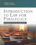 Introduction to Law for Paralegals 3rd edition 9780735539891 0735539898