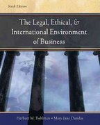 Legal, Ethical and International Environment of Business 6th edition 9780324269796 032426979X