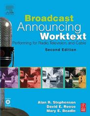 Broadcast Announcing Worktext 2nd edition 9780240805696 0240805690